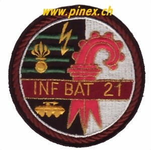 Photo de Inf Bat 21 braun,  Badge Gebirgsinfanterie Bataillon 21 Schweizer Armee
