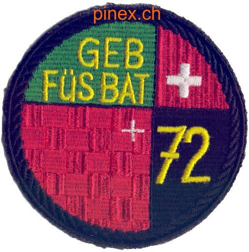 Photo de Geb Füs Bat 72 schwarz Armeebatch