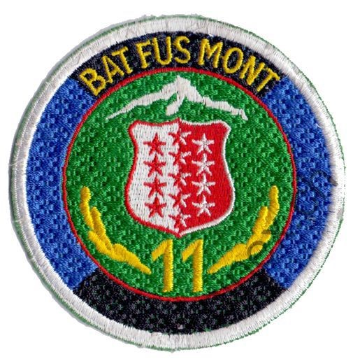 Photo de Bat Fus Mont 11 bleu Badge Armée Suisse