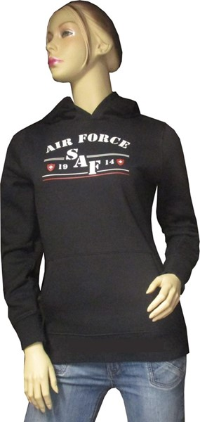 Photo de Swiss Air Force Damen Hoodie schwarz