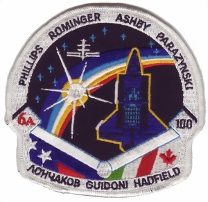 Picture of STS 100 Endeavour Space Shuttle Abzeichen