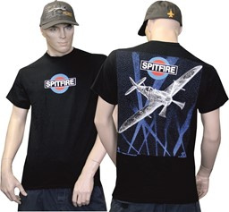 Photo de Spitfire Warbird T-Shirt RAF schwarz