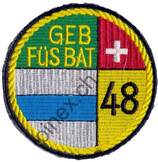 Photo de Badge bat fus mont 48 noir