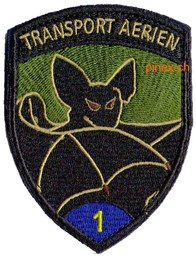 Bild von Transport Aerien 1 blau Badge