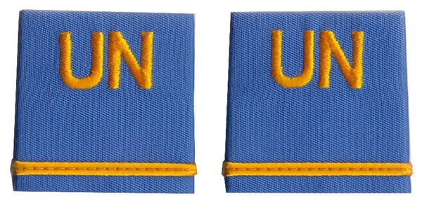 Photo de Nations Unies UN Insigne de grade Lieutenant UNO