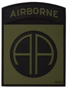 Photo de 82nd Airborne Abzeichen grün All American PVC Rubber Patch