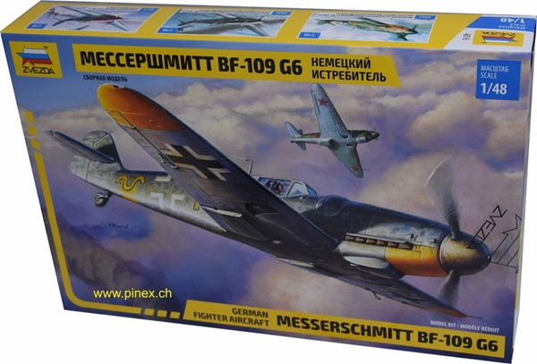 Photo de Messerschmitt BF-109 mit Schweizer Decals 1:48 Zvezda