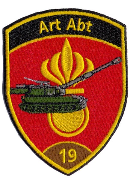 Picture of Artillerie Abt 19 Badge braun ohne Klett