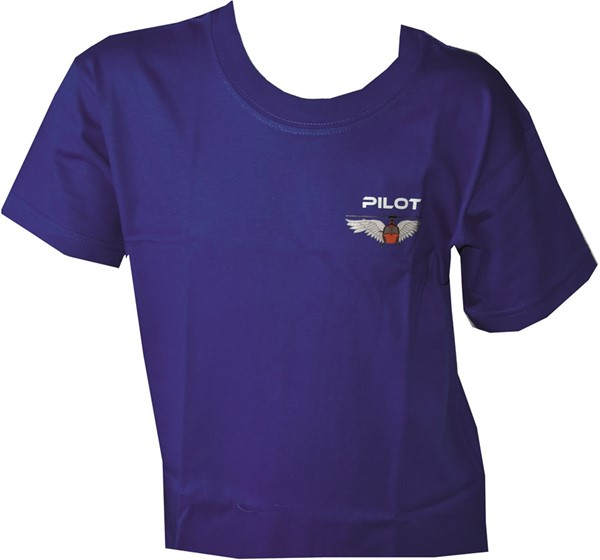 Photo de Helikopter Pilot Wing Kinder T-Shirt blau