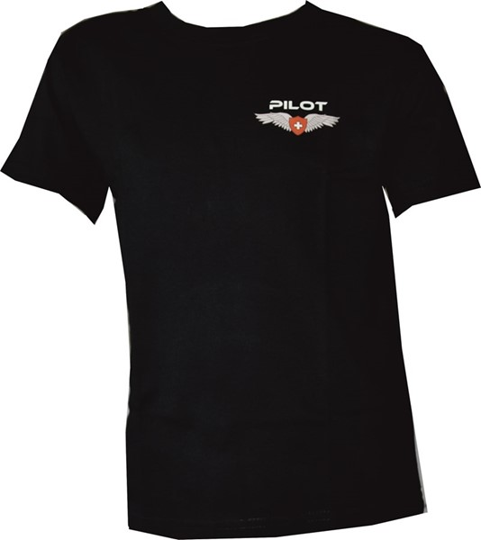 Photo de Pilot Wing Kinder T-Shirt schwarz
