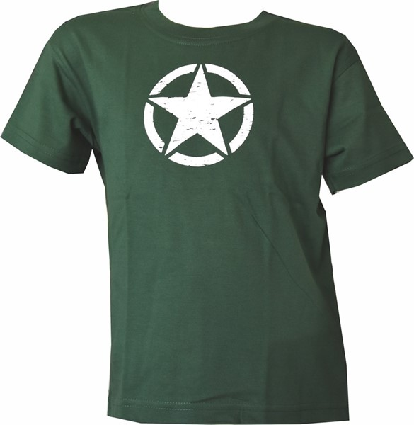 Photo de US Army Star Kinder T-Shirt grün