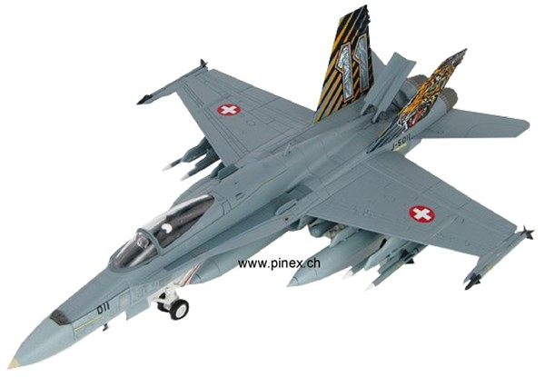 Photo de F/A-18 Hornet model en métal 1:72 escadrille 11 en couleur Tiger Meet,