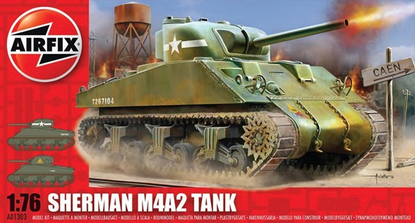 Photo de Maquette char Sherman M4 1:72 Airfix