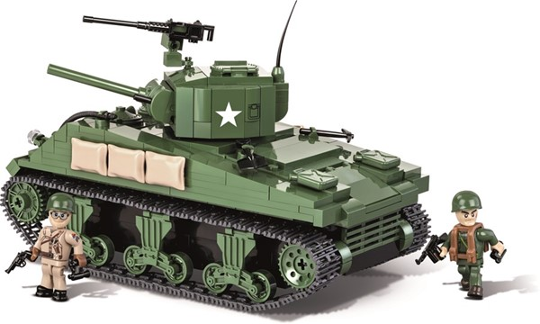 Picture of Sherman M4A1 Panzer US Army WWII Baustein Set Cobi