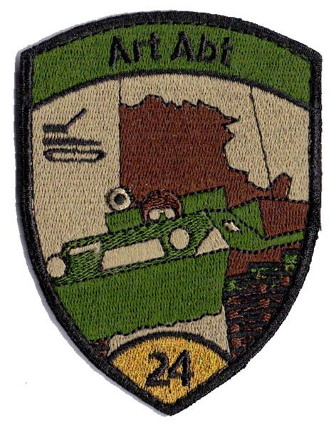 Picture of Artillery Unit 24 gold with Velcro Swiss Army Insignia Patch