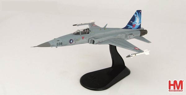 Picture of Tiger F5E die cast metal model Swiss Air Force Squadron 19, limited edition Hobby Master
