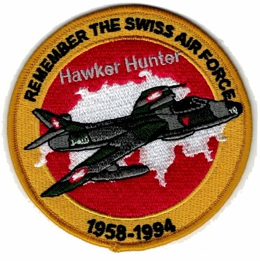 Picture of Swiss Air Force Hawker Hunter Remember Patches