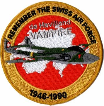 Photo de de Havilland Vampire Badge Forces aériennes suisse
