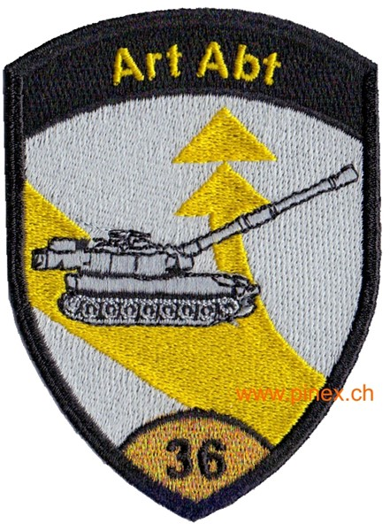 Photo de Art Abt 36 gold ohne Klett Artillerie Badge