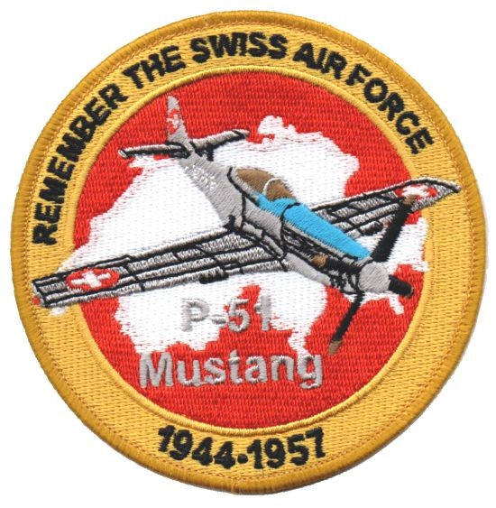 Photo de P-51 Mustang Badge Forces aériennes suisse