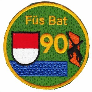 Photo de Füs Bat 90 blau Armee 95 Badge
