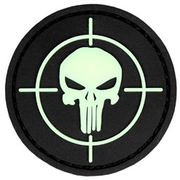 Bild von Punisher Glow in the dark PVC Rubber Patch