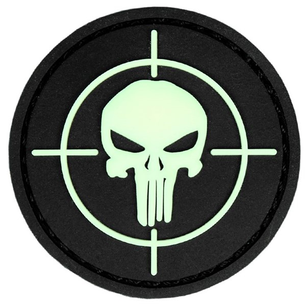 Picture of Punisher Glow in the dark PVC Rubber Patch