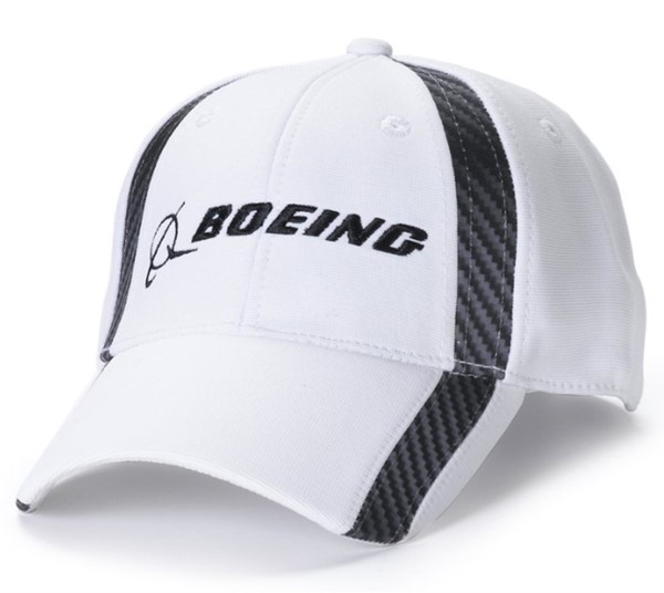 Picture of Boeing Logo Carbon Mütze weiss