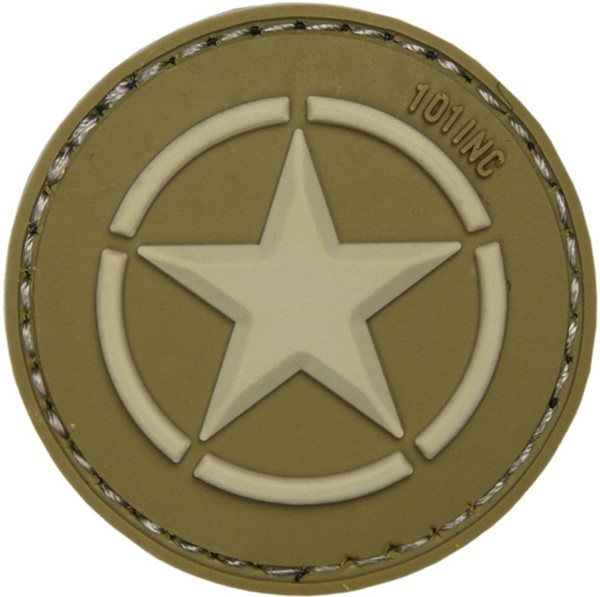 Picture of US Army Star Logo grün PVC Rubber Patch