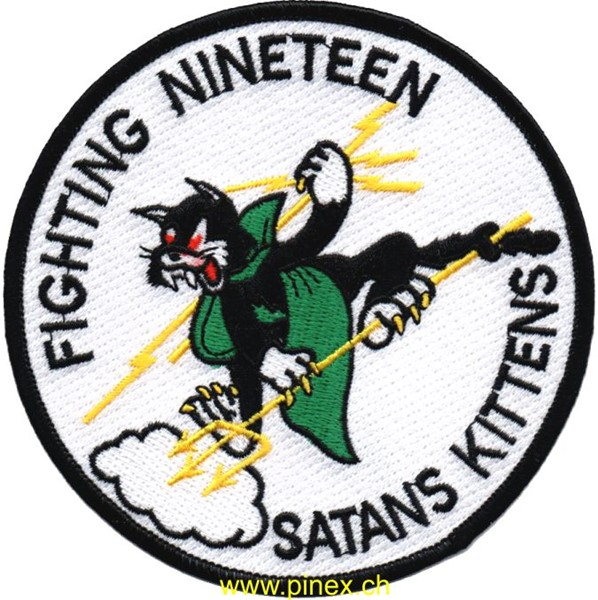 Picture of VF-19 Fighting Nineteen Satans Kittens Abzeichen WWII