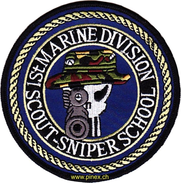 Picture of 1st Marine Division Scout-Sniper School Patch Abzeichen US Marines Sniper