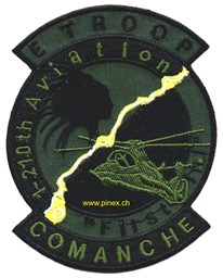 Bild von E Troop 1st Battalion 210th Aviation Attack Helicopter Regiment Patch OD Abzeichen