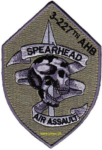 Photo de 3rd Battalion 227th Aviation Air Assault Regiment OD Patch Abzeichen