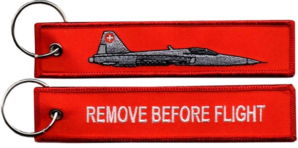 Photo de Northrop Tiger F5e Schweizer Luftwaffe Schlüsselanhänger Remove before flight