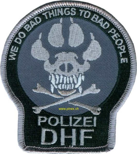 Photo de Polizei Diensthundführer DHF Abzeichen We do bad things to bad people