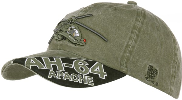 Picture of Apache AH-64 Kampfhelikopter Mütze Cap Oliv