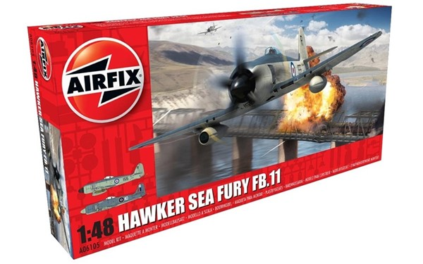 Photo de Airfix maquette a monter Hawker Sea Fury FB11 1:48