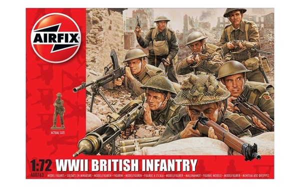 Photo de WWII British Infantry Soldaten Modellfiguren Airfix 1:72