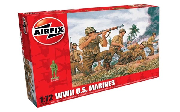 Picture of WWII US Marines Soldaten Modellfiguren Airfix 1:72