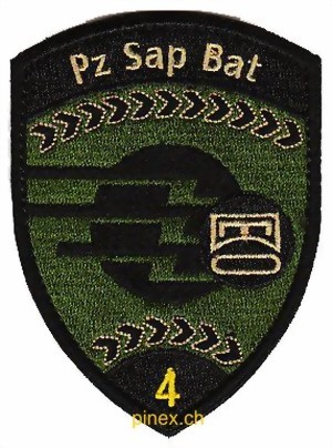 Photo de Pz Sap Bat 4 Panzersappeurbataillon 4 schwarz mit Klett