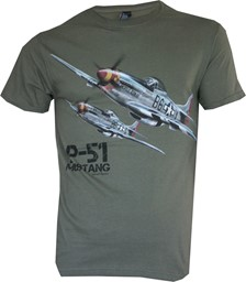 Photo de P-51 Mustang T-Shirt grün