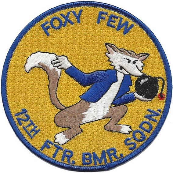 "Bild von 12th Fighter Bomber Squadron ""Foxy Few"" US Air Force Abzeichen Patch"