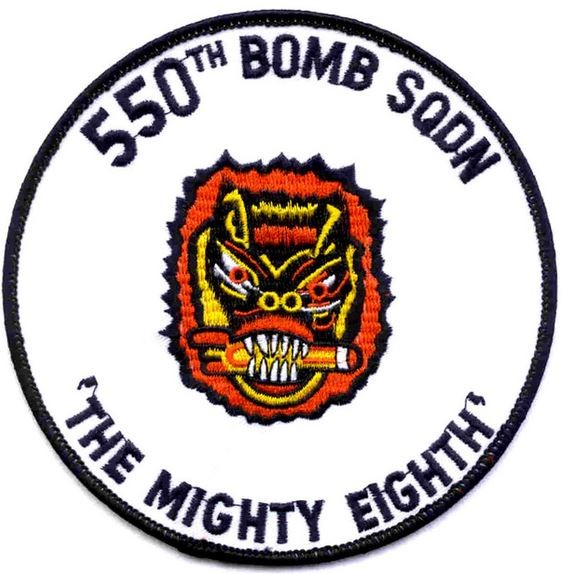 "Bild von 550th Bomb Squadron WWII US Air Force Abzeichen ""The mighty eight"""