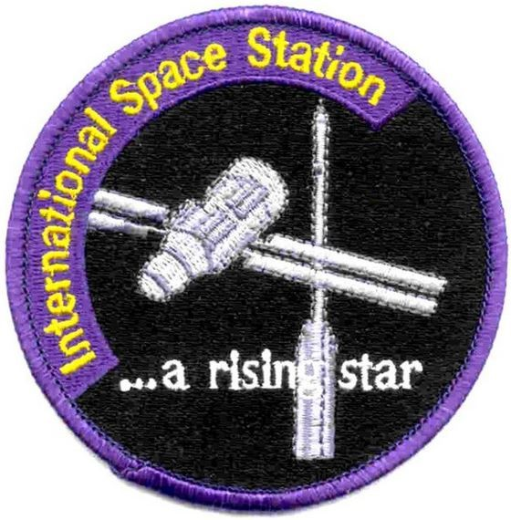 "Bild von ISS Abzeichen der Raumstation International Space Station Patch ""a rising star"""""