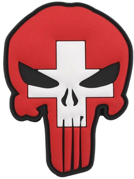 Bild von Punisher Switzerland Flag PVC Rubber Patch