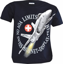 Bild von F/A 18 NO AOA Swiss Hornet Display Team Kinder T-shirt