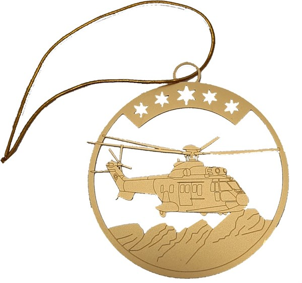 Bild von Super Puma Christbaum Ornament