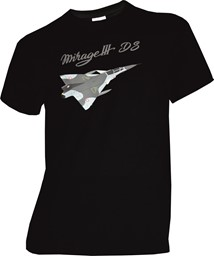 Photo de Mirage III DS Flugzeug T-Shirt schwarz