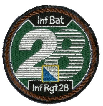 Photo de Inf Bat 28  braun Badge Abzeichen
