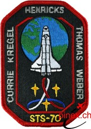 Photo de STS 70 Discovery Shuttle Abzeichen Patch